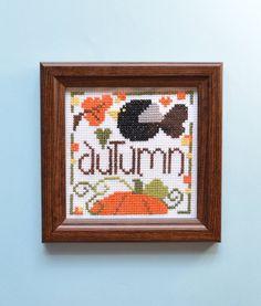Осень вышивка крестом - Ручная вышивка крестом - Завершенная вышивка