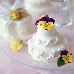 Small Tiered Cluster Cakes | These delightful sweets are a tasteful final touch for your spring celebration. Springtime is full of color and wonderful scents, and it isn't just the flowers. These gorgeous spring desserts are all about seasonal fruit. Make sure your sweet tooth is satisfied with everything from cupcake recipes to tart ideas. Any of these spring dessert recipes are great for sharing with family, friends, and neighbors. For a new twist on a classic, try the Key Lime Pound Cake.