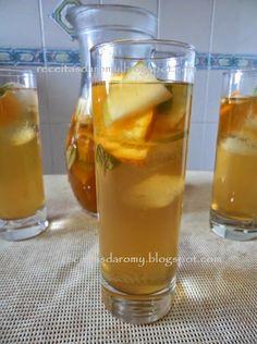 Receitas da Romy: Chá gelado com fruta
