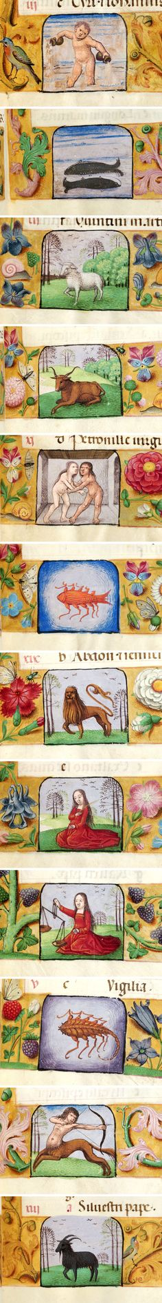 Signs of the Zodiac | Book of Hours | Belgium, Bruges | between 1500 and 1526 | The Morgan Library & Musuem