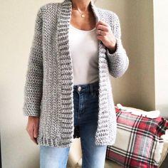 Montana Cardigan Crochet Pattern by Brechelle Crochet Jumper Pattern, Crochet Poncho, Easy Crochet Patterns, Jacket Pattern, Crochet Clothes, Knitting, Sweaters, Cardigans, Cozy