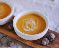 I found a truly flavorful recipe for Butternut Squash Soup. Not too sweet, but bursting with savory goodness.