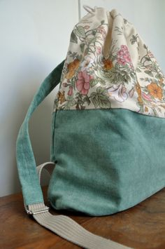 plecak kwiatowy miętowy #bag #plecak
