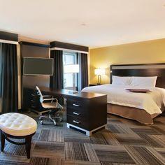 Hampton Inn - Bellevue/Seattle WA - 2000th Hampton open. Guest Room suite - Designer: AK Designs, Carpet tiles: Interface #Interface #carpettiles #Hampton