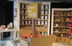 cubeta de #carton para interior de #tienda #PLV #escaparatismo