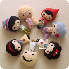 LOVE!! Fairy tale dolls by Ginger Melon!