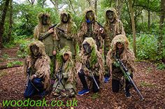 Junior Sniper Party at Woodoak Wilderness, Surrey, England UK www.woodoak.co.uk