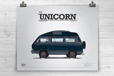 The Unicorn 16X20  Art Print