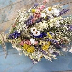 Festival Meadow Bridal Bouquet | The Artisan Dried Flower Company | Fradswell, Staffordshire