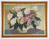 Vintage Framed Floral Arrangement Paint By Number, via Etsy.
