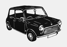 Nice things inspired in MINI cars retro by Maria Gonzalez on Etsy