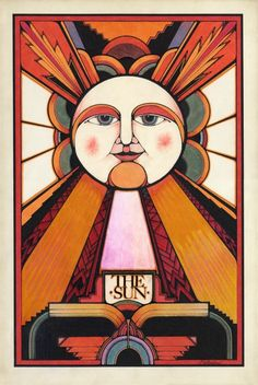 David Palladini, The Sun, Tarot card, 1970