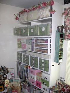 A Scrap Mom's Musings: Where I Create. This woman is a SERIOUS crafter!