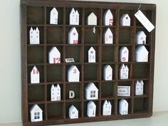 Advent houses or 30 haunted houses for Halloween Countdown.