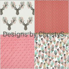Deer Baby Girl Crib Bedding  Tulip Fawn by DesignsbyChristyS