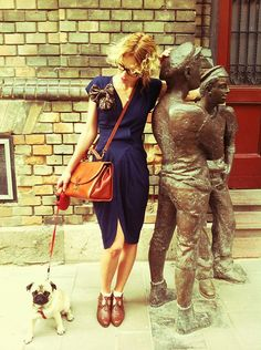 Vintage Dress, Vintage Leather Bag, Vintage Italian Leather Shoes, Diy Tie Bow, Lulu <3, Ray Ban Glasses