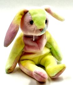 ef4e300d2c4 NEW TY BEANIE BABIES COLLECTION HIPPIE THE RABBIT Tie Dyed 1999 Retired  Teddy