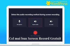 RecordCast – Cel mai bun Screen Record Gratuit Audio, Wordpress