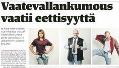Juttu Kansan Uutisissa 24.4.