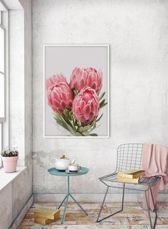 Watercolor Artwork, Floral Watercolor, Blue Flower Wallpaper, Art Therapy Activities, Deco Furniture, Pictures To Paint, Inspired Homes, Picture Wall, Painting Inspiration