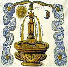 The fountain representing the soul of man and alchemy's Prima Materia ...