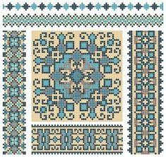 embroidered good like handmade cross-stitch ethnic Ukraine pattern design Stock Photo