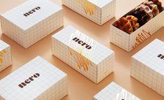 Baking Packaging, Dessert Packaging, Food Packaging Design, Packaging Design Inspiration, Brand Packaging, Branding Design, Brand Identity Design, Menu Design, Takeaway Packaging