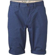 Knowledge Cotton Apparel Herren Twisted Twill Shorts dark denim blau