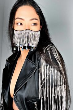 FASHION FACE COVERS - ACCESSORIES Queen Fashion, Fashion Face Mask, Fringe Fashion, Unique Fashion, Bad Fashion, Fashion Photo, Stylish, How To Wear, Money