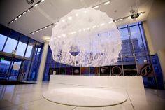 Silk Pavillion Environment | CNC Deposited Silk Fiber & Silkworm Construction | MIT Media Lab