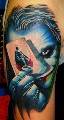 Joker and Batman Tattoo - This is so bad ass! @scottrohlfs