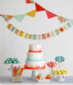 Candy table...love the simple sophistication of this darling table set up!  #candy #table #candyland