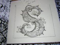 Zentangle Letter S
