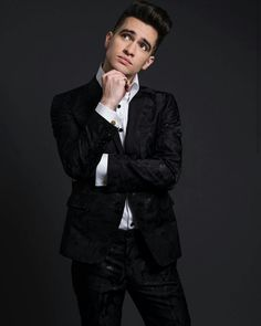 Brendon Urie contemplating life, and doing it in style