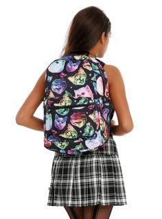 Neon Cats In Space Backpack | Hot Topic