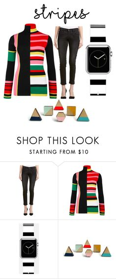 """""""Colorful Stripes"""" by mermadem8 ❤ liked on Polyvore featuring Frame, Kenzo and Casetify"""