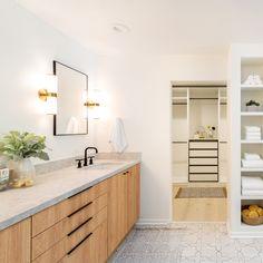 A Modern California Ranch House in Tahoe | Semihandmade Bathroom Cabinet Fronts