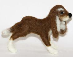 sweet Dog needle felted miniature small animal by nutkaart on Etsy