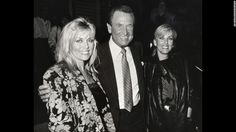 """Barker poses with two """"Price Is Right"""" models -- Dian Parkinson, left, and Janice Pennington -- in 1986. Parkinson sued Barker for sexual harassment in 1993, asking for $8 million. The lawsuit was dropped in 1995."""