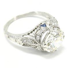 1920s rings | ... Rings Engagement Rings 1920's Platinum & Diamond Ring, 1.74ct L-VS1