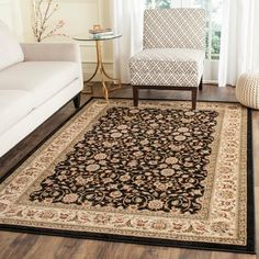 Shop for Safavieh Lyndhurst Collection Traditional Black/Ivory Area Rug (8' Square). Get free shipping at Overstock.com - Your Online Home Decor Outlet Store! Get 5% in rewards with Club O!