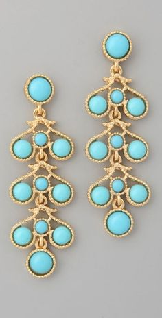 Kenneth Jay Lane- Three Drop Earrings;      wish listed!
