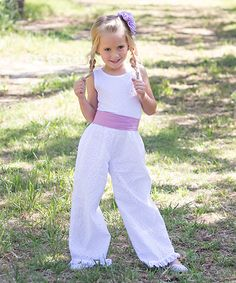 Look what I found on #zulily! White Belted Eyelet Jumpsuit - Infant #zulilyfinds