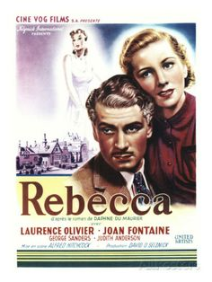 Rebecca, Laurence Olivier, Joan Fontaine on Belgian Poster Art, 1940 Photo at AllPosters.com