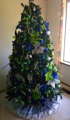 Another shot of my Seahawks Christmas Tree