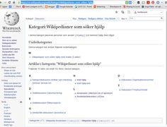 #Wikipedianer som söker hjälp https://sv.wikipedia.org/wiki/Kategori:Wikipedianer_som_s%C3%B6ker_hj%C3%A4lp #Wikipedia