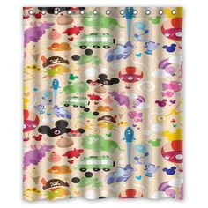 b14d2f6790a6 Best Disney All Character Collage Custom Shower Curtain Size 60x72 and 66x72   Unbranded  Modern