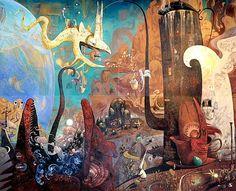 Shaun-Tan-art-mural-Australian-library.jpg 535×435 píxeles
