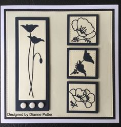 By Dianne Potter:Memory Box Prim,Perky and Darling Poppy dies,Sue Wilson for Creative Expressions Noble double pierced dies,Craftwork Cards card candy