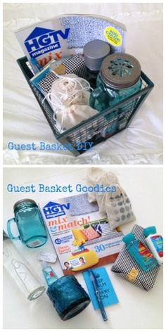 A fun and quick DIY guest basket to make the perfect welcome for your out of town guest.